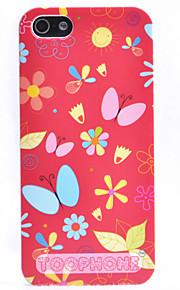 조이 랜드 다채로운 만화 나비 패턴 아이폰 5/5S (분류 된 색깔)를위한 케이스를 위로 ABS