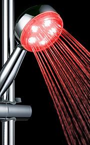 3-fargetemperatur Detekterbar ABS LED fargeendringen hånddusj