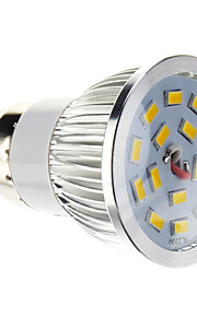 B22 LED-spotpærer 15 SMD 5730 100-550 lm Varm hvit Dimbar AC 220-240 V