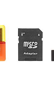 8GB microSDHC-TF-kaart met sd sdhc adapter en usb-kaartlezer