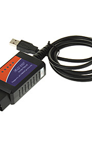 OBDII USB Car Diagnostic Cable - Black + Blue + Orange (DC 12V)