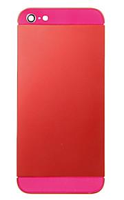 Red Liga de Metal Voltar Bateria Caixa com Rose de vidro para o iPhone 5