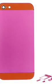 Fuchsia Liga de Metal Voltar Bateria Caixa com Button e vidro laranja para iPhone 5