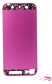 Fuchsia Metal Alloy Batteribokser med knapper for iPhone 5