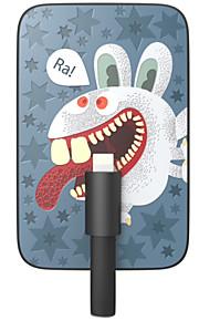 Ounuo 3200mAh mestiere squisito selvatica Bunny Motivo 7 millimetri di spessore Banca di potere con Built-in 8-Pin Cable (5V 1A, 22 centimetri)