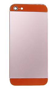 Rosa Liga de Metal Voltar Bateria Caixa com vidro laranja para iPhone 5
