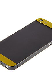 Gray Hard Metal Alloy Tillbaka Batterihus med gula glas för iPhone 5s