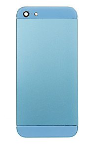 Blue Metal Alloy posteriore della batteria Custodia con Blue Glass per iPhone 5