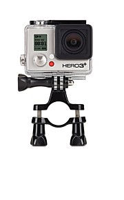 Tool-free Handlebar Clamp + A Three-way Adjustable Pivot Arm for Gopro Camera