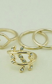 Ring,Midi Rings / Set,Jewelry Alloy Party / Daily / Casual Gold 4pcs,7 Women