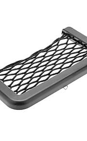 Black Car Auto Cell Phone Net Storage Holder Pocket Adhensive Organizer