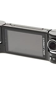"F600 2.7"" 16:9 Dual 180°-Rotating Camera HDMI In-Car DVR"