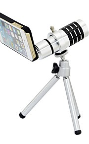 12X telelinse med Tripod og Ultraslim Matte PC vanskelig sak for iPhone 5