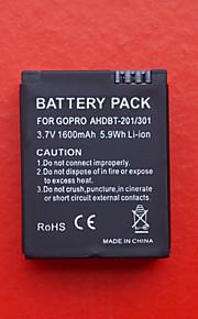 1300mAh battery pack, voor GoPro Hero 3 AHDBT-201/301
