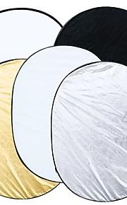 5 em 1 fotografia do estúdio multi foto dobrável Luz Refletor Oval 90 x 120 centímetros