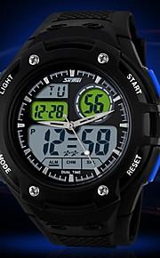 Masculina Sport Style Dual Time Zones Rubber Band relógio de pulso (cores sortidas)