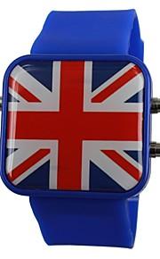 Relógio de Pulso Unissex LED Com a Bandeira da Inglaterra