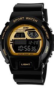 Moda Esporte Estilo Multi-Function LCD Masculina Digital Rubber Band relógio de pulso (cores sortidas)
