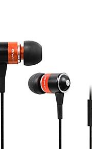 Moda AWEI Q3I enchufe de 3.5mm en la oreja de aleación de aluminio Super Bass Auriculares Micrófono-(Naranja / Azul / Negro)