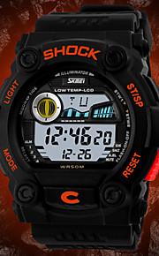 Masculino Relógio de Pulso Digital LCD / Calendário / Cronógrafo / Impermeável Borracha Banda Preta marca- SKMEI