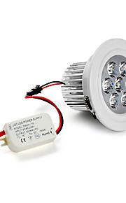 7W Innfelt lampe / Taklys Innfelt retropassform 7 Høyeffekts-LED 630 lm Naturlig hvit AC 85-265 V