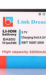 Enlace Dream High Quality 3.7V 3200mAh de la batería del teléfono celular para Sony Xperia ZR M36h C5502 C5503 (BA950)