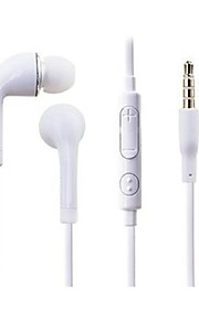Headphone 3.5mm In Ear Noise-Cancelling Volume Control with Microphone for Samsung GALAXY S4/S3 Note1/2/3