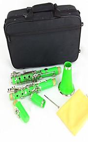 Clarinete instrumento Clarinete Clarinete B (verde)