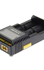carregador de bateria d2 NiteCore para 26650/22650/18650/18490/18350/17670/17500/14500/10440/18340