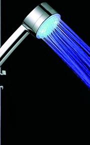 3-tommers 4-ledede 7colors hoppe endring / blå dusjhodet (siliver abs)