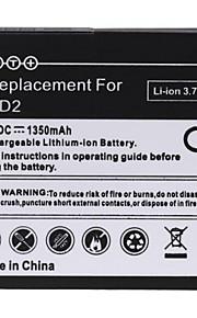1350mAh recarregável de substituição de bateria de iões de lítio para HTC HD2