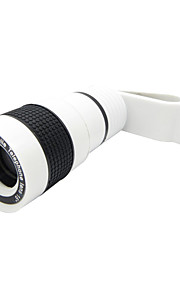 Universal 8X Telephoto Lens with Clip for Cellphone -White