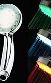 3-inch 12-LED 3Colors Heat Sensor Shower Head (Siliver ABS)