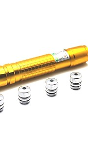 LT-05 Zoom Light Match grøn laser pointer (1MW, 532nm, 1x18650, Golden)