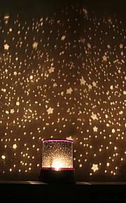 אור מקרן שמי זרועות הכוכבים הלילה צבעוני הלילה הוביל (צבע אקראי, מופעל על ידי 3 סוללות AA)
