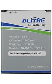 blithe 1900mAh batterij voor Samsung Galaxy S3 SIII, gt-i9300 I535 I747 t999 [non nfc voorverpakking]