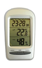 "QF665 Multifunction 2.8"" LCD Screen Thermometer Hygrometer - Silver + Grey"