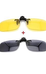 lebosh ™ nærsynet solbrille klip super let polariseret linse kombination af dag og nat suit (sort& gul, 2 par)