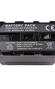 NP-F960 6600mAh camcorder batterij voor Sony camcorders