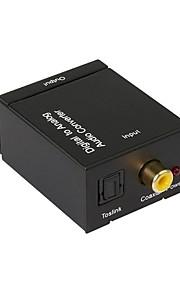 conversor digital-analógico de áudio, converter sinais coaxiais ou toslink áudio digitais para analógico l / r conversor de áudio