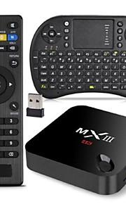 MXIII Amlogic S802 XBMC Fully Loaded TV Box 2G RAM 8G ROM RII i8 Airmouse QWERTY Keyboard Bundle Kit 2.4G 5G Dual Wifi