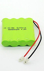 800mAh 4.8v AAA Ni-MH oplaadbare batterij set (4-pack)