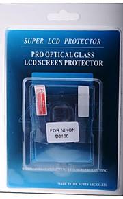 protetor de tela LCD profissional de vidro óptico especial para Nikon D3100 DSLR
