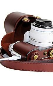 dengpin® læder beskyttende kamerataske taske dække plastic shell materiale opladning stil til Samsung NX3000