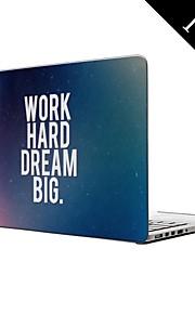 """hard werken en dromen groot ontwerp full-body beschermende plastic geval voor MacBook Pro 13 """"/ 15"""" (non-retina)"""