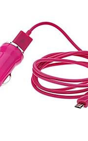 colorato 1m cavo micro usb caricatore con caricabatteria da auto per Samsung, mobile e altri htc (colori assortiti)