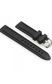 mulheres homens 20 milímetros relógio de silicone preta pulseira pulseira banda moda
