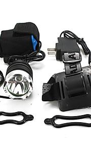 Lights Headlamps Bike Lights Front Bike Light LED 1800 Lumens 3 Mode Cree XM-L T6 18650 Waterproof Rechargeable Impact Resistant