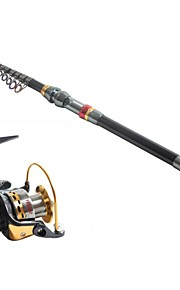 3.6 Carbon Sea Fishing Medium Fishing Rod & Reel Combos Fishing Reel YB5000 Spinning Fishing Reels