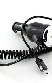 cavo a spirale micro usb alimentazione Caricabatteria da auto per Samsung Galaxy e altri cellulari (nero)